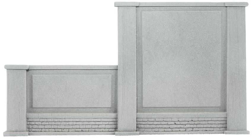 58088 Noch HO Muro di contenimento sinistro con pilastri misure 20,5 x 12,5  cm.