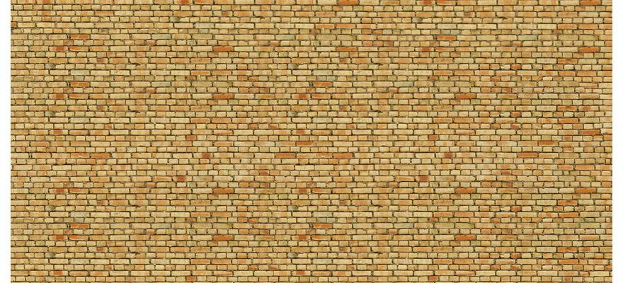 250 x 125 56613 Noch HO Cartoncino in 3d mattoni misto giallo misure mm