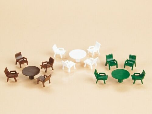 bar e tanti altri usi 42647 AUHAGEN HO Tavolini e sedie per parchi