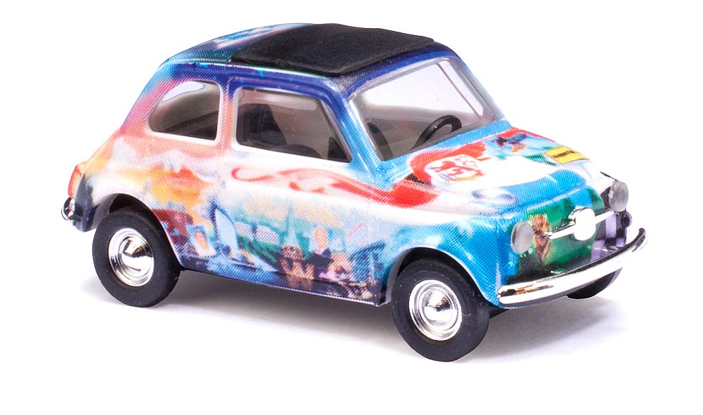 48711 Busch HO 1:87 Fiat 500 fantasy design exclusive novita'