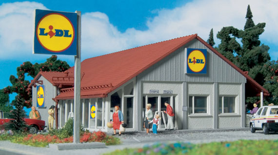 "43662 Vollmer HO supermercato ""Lidl"" kit da montare in scala 1:87"