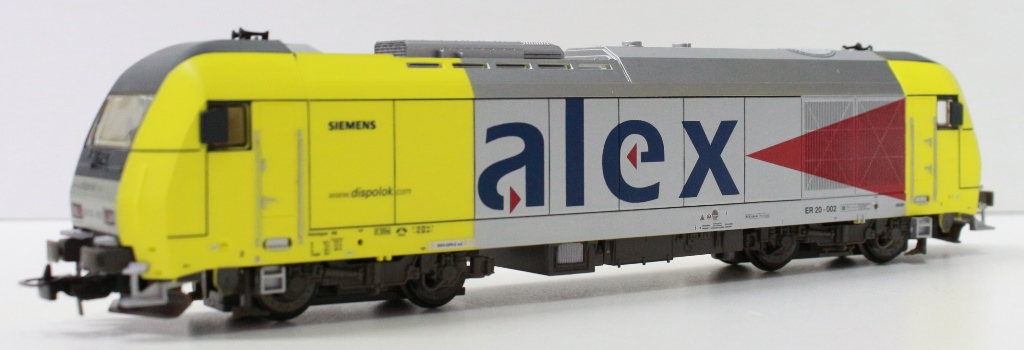 57130LA PIKO LOCO ELETTRICA  ER20.002 ALEX SIEMENS FERROVIE PRIVATE