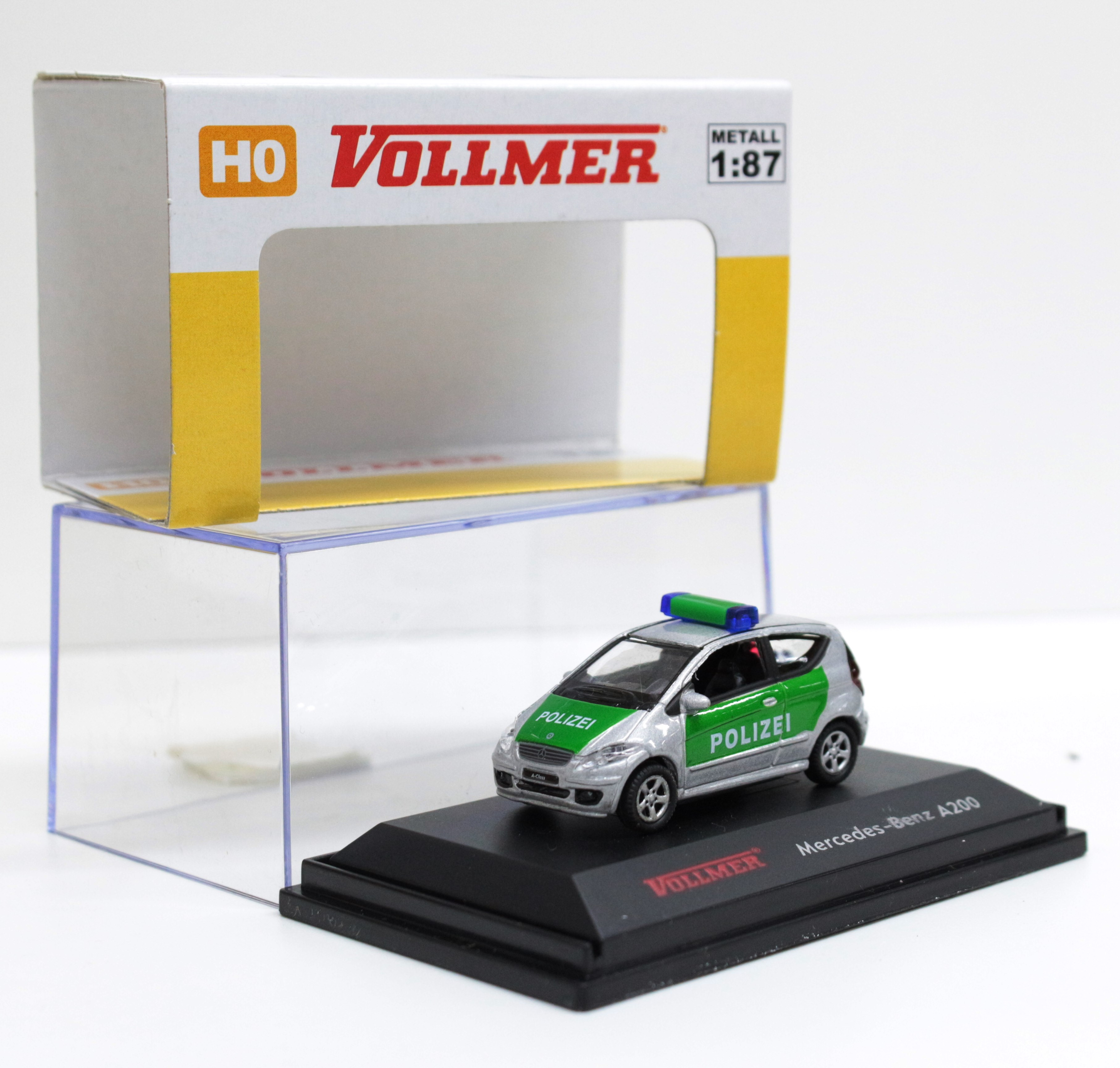1606 Vollmer HO 1:87 Mercedes Benz SLK A200 polizia  in metallo
