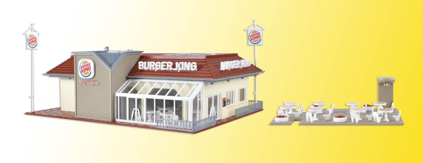 43632 Vollmer HO Ristorante Burger King scala 1:87 con kit illuminazione a led