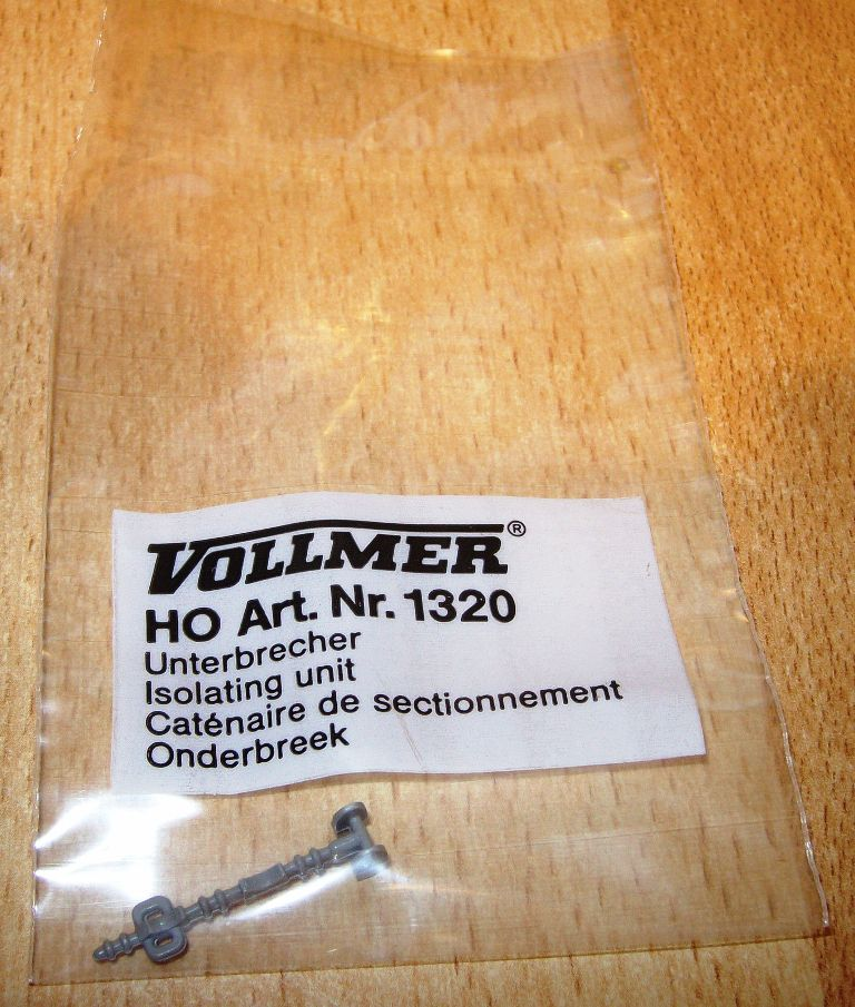 1320 Vollmer HO Isolatore per catenarie scala 1:87