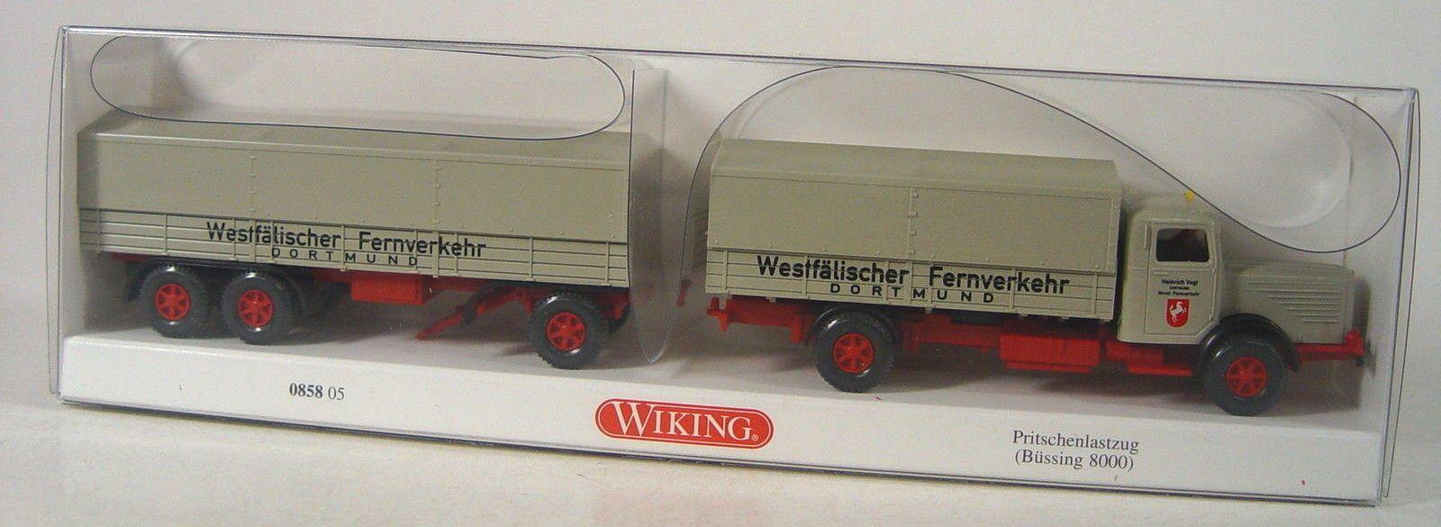 Wiking 085805-1//87 pritschenlastzug Büssing 800-nuevo