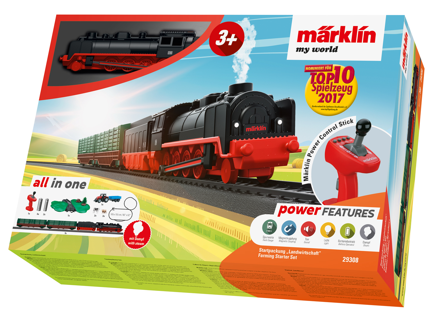29308 Marklin HO My world Start Set completo Agricoltura scala 1:87