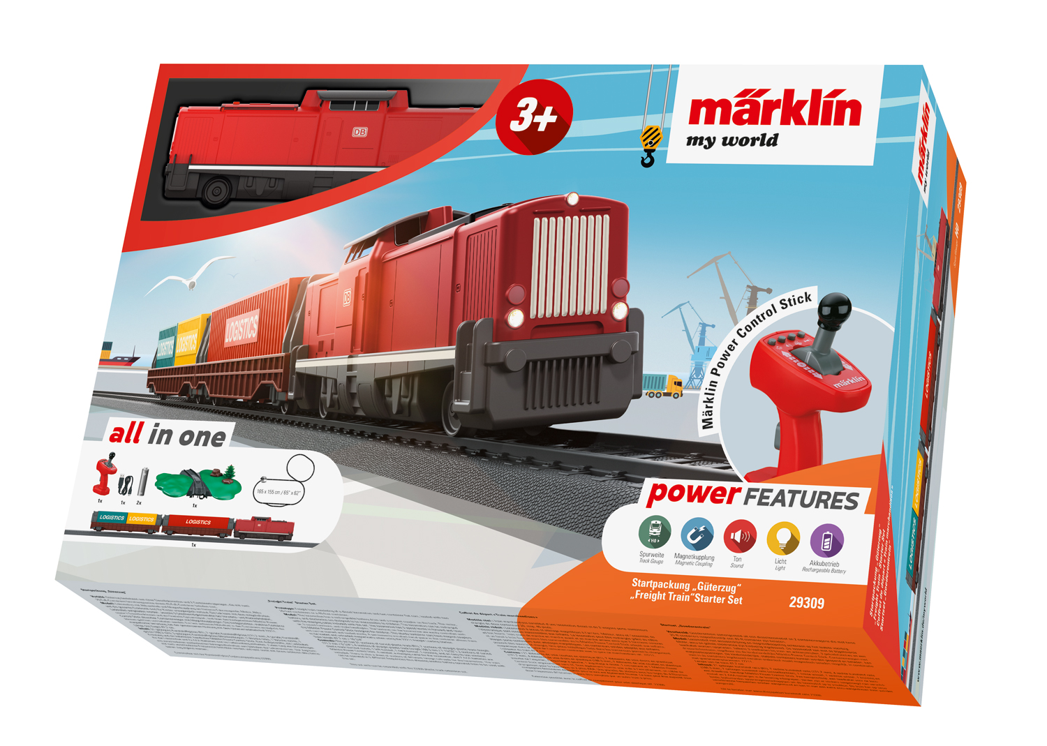 29309 Marklin HO My world Start Set completo Treno Merci scala 1:87