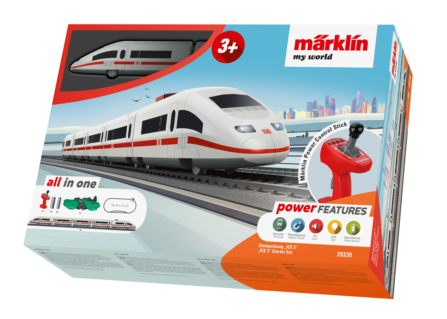 29330 Marklin HO My world Start Set completo Treno Rapido ICE scala 1:87