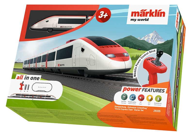 29335 Marklin HO My world Start Set completo Treno Rapido Svizzero scala 1:87