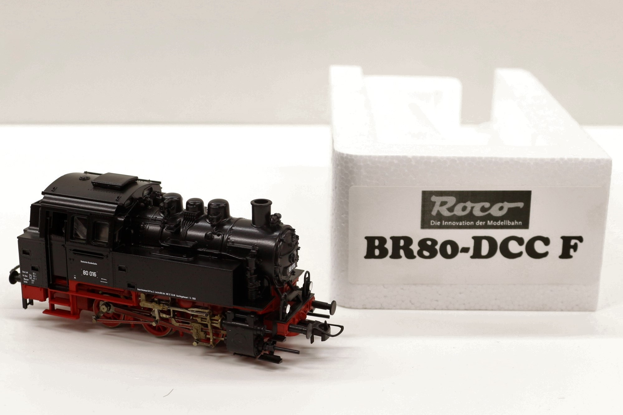 BR80DCCFS Roco HO Loco vapore BR 80 DB DIGITALE SOUND CON FUMO E JINGLE NATALE