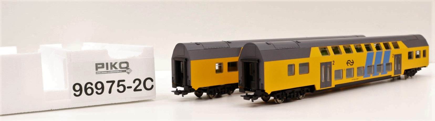 96975-2C Piko HO Set 2 carrozze bipiano delle NS 1 cl. e 1/2 classe da start set