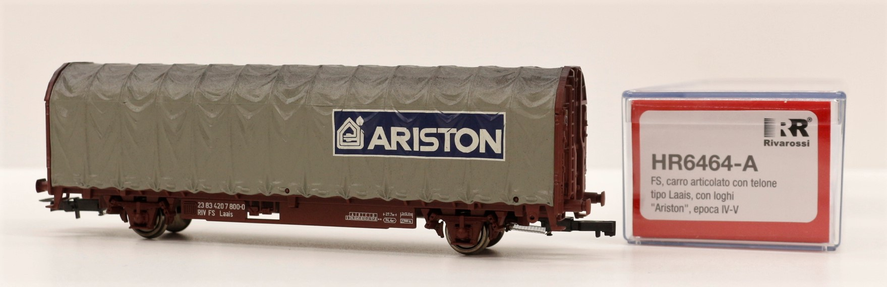 HR6464-A Rivarossi HO Carro FS telonato ARISTON ep. V-VI scala 1:87