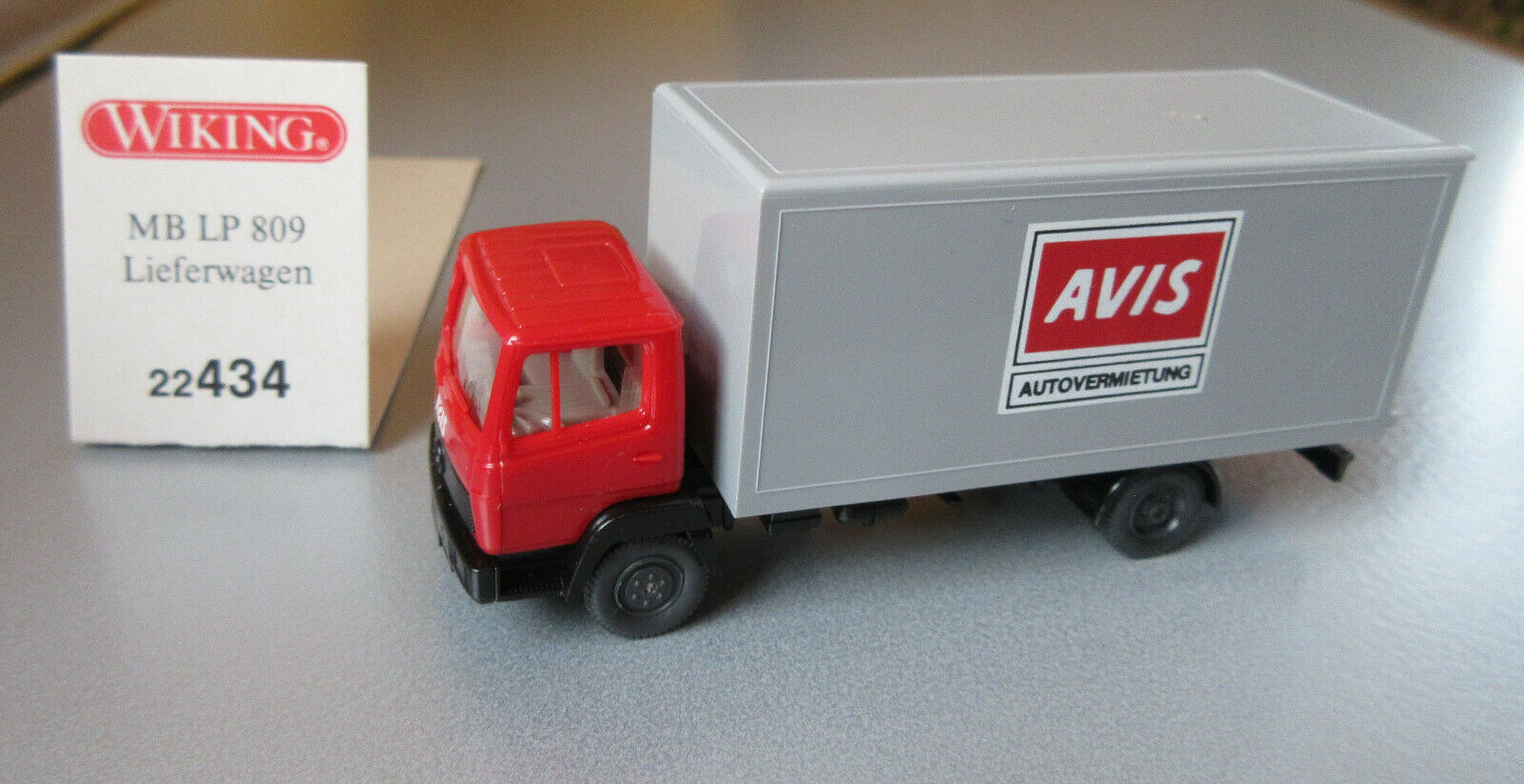 22434 Wiking HO MB LP 809 City Cargo AVIS noleggio auto scala 1:87