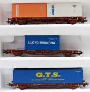 97916-3C Piko HO Set 3 Carri delle FS con containers scala 1:87 da start set