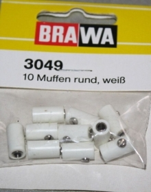 3049 Brawa Spinette femmina bianco set di 10 spinette.