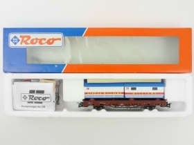 47628 Roco Carro pianale RLmms con carico Circus Williams