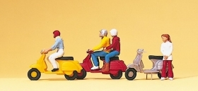 10128 Preiser HO Scooteristi in Vespa come da foto scala 1:87