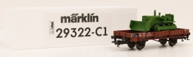 29322-C1 HO Marklin carro merci DB sponde basse con ruspa a bordo da start set