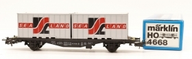 4668 Marklin Vintage HO Carro Trasporto containers SEA LAND delle DB scala 1:87