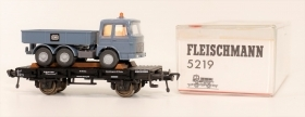 5219 Fleischmann HO Carro pianale con automezzo a bordo scala 1:87
