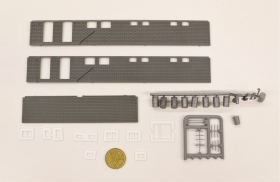 1066DM HO Set Muri e accessori vari 24 pezzi come foto scala 1:87