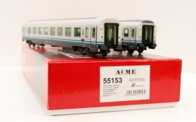 55153 ACME Set 2 carrozze ex GC attuale livrea XMPR con carenatura scura ep.VI