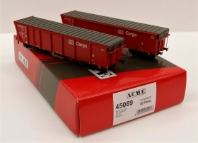 45069 Acme HO Set di due carri merci Tipo Tamns895 a tetto apribile DB AG.  1:87